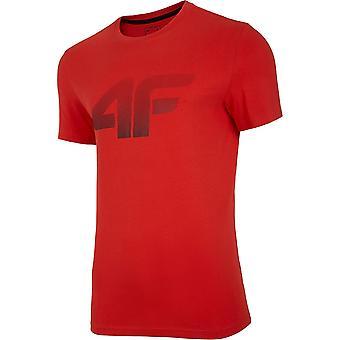 T-shirt universel homme d'été 4F TSM004 NOSH4TSM004CZERWONY