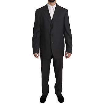 Z Zegna Gray Two Piece 3 Button Wool Suit bgKOS1495-52