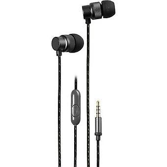 Vivanco URB 50 B Hi-Fi In-ear headphones In-ear Black (metallic)