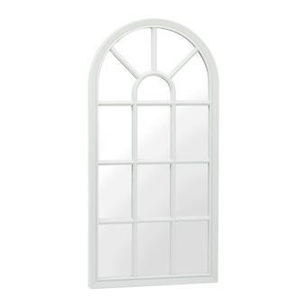 Specchio Cabine Colore Bianco, Cromo in PP, Specchio, L36xP3,6xA70,7 cm