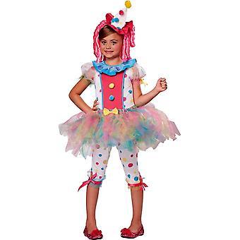 Söt flicka Clown kostym