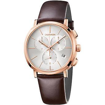 Calvin Klein K8Q376G6 Posh Chronograph Silber Zifferblatt Herren's Uhr
