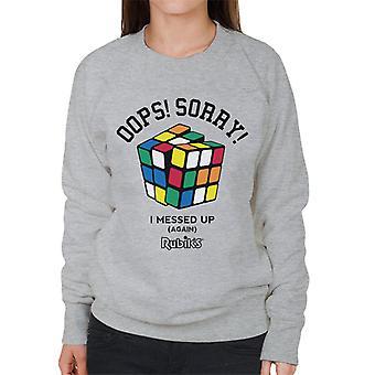 Rubik's Oops Sorry I Messed Up Women's Sweatshirt