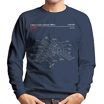 NASA Progress Russian Resupply Vehicle Blueprint Men es Sweatshirt