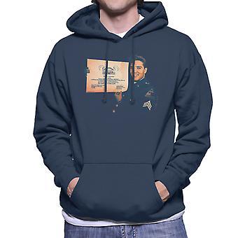 Elvis Presley US Army Certificate Men's Hooded Sweatshirt