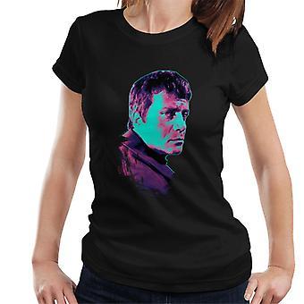 TV Times Oliver Reed 1971 Pop Art tyylitelty Naiset's T-paita