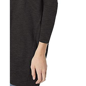 Brand - Daily Ritual Women's Lightweight Cocoon Sweater, Black,Large