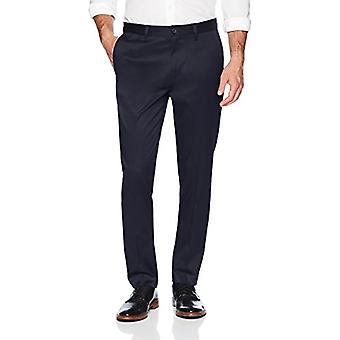 Brand - Buttoned Down Men's Slim Fit Non-Iron Dress Chino Pant, Navy, 40W x 29L