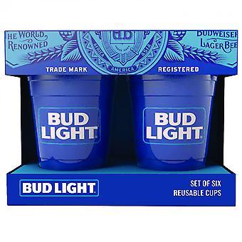 Bud Light 6-Pack Reusable Plastic Cups