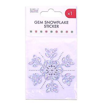 Simply Creative Snowflake Gem Sticker