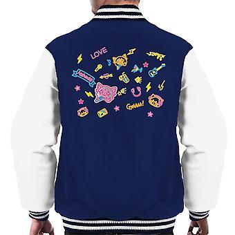 Aggretsuko Neon Rock Rage Men's Varsity Jacket