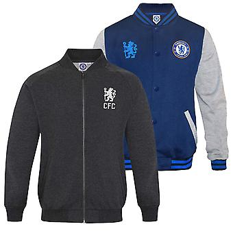 Chelsea FC Officiel Football Cadeau Hommes Rétro Varsity Baseball Jacket