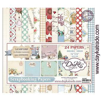 DayKa Trade La Navidad Christmas 12x12 Inch Paper Pack