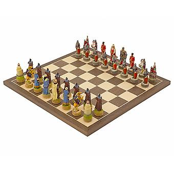 The Russians Vs Mongolians Hand painted themed Chess set by Italfama