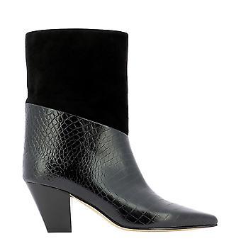 Jimmy Choo Bear65xyzblack Women's Black Leather Ankle Boots