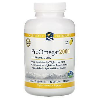Nordic Naturals, ProOmega 2000, Citron, 1 250 mg, 120 Gels mous