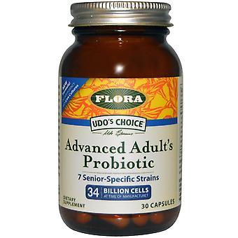 Flora, Udo-apos;s Choice, Advanced Adult's Probiotique, 34 milliards de cellules, 30 capsules