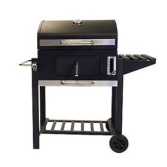 Charles Bentley amerikansk stor transportabel grill Charcoal BBQ 60x 45cm madlavning område