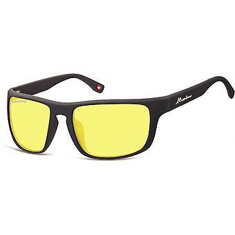 النظارات الشمسية Unisex Cat.3 مات الأسود / الأخضر (SP314F)