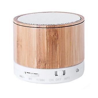 Wireless Bluetooth Speaker USB FM 3W Bamboo