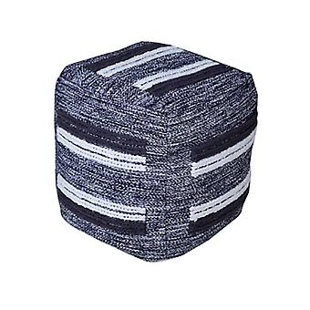 Spura Home Moroccan Express Gray Ottoman Foot-Stools Pouf Soft Seating