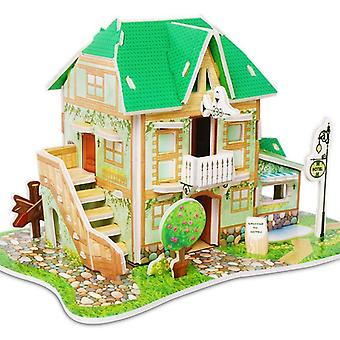 Attractive Cartoon Castle Garden Zoo Princess House 3d Puzzle Jigsaw Paper Model Learning Educational Toys