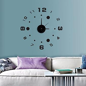 Modern Home Self Adhesive DIY 3D Wall Clock - Compass