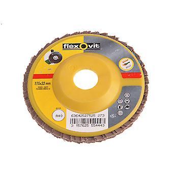 Flexovit Flap Disc Para Moedores de Ângulo 125mm 80g FLV27530