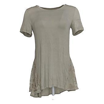 LOGO door Lori Goldstein Women's Top Short Sleeve Knit Gray A351325