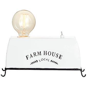 BRILLIANT Lamp Farm Life Table -lamppu Valkoinen | 1x A60, E27, 30W, sopii normaaleille valaisimista (ei sisälly pakkaukseen) | Skaalaa A++