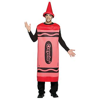 Mens Crayola Crayon Red Tunic Stag Night Group Fancy Dress Costume