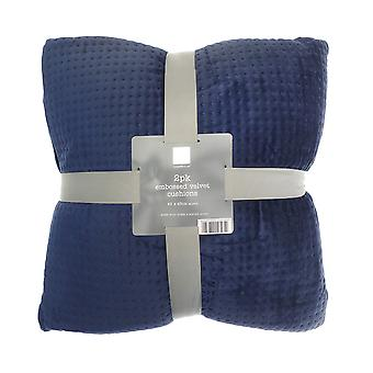 Country Club 2 Pack Velvet Cushions, Blue