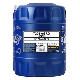 Mannol Agro Engine Oil 20L pour moteurs à deux temps API TC Jaso FB