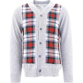 Comme Des Garçons Shirt W28511grey Men's Grey Wool Cardigan