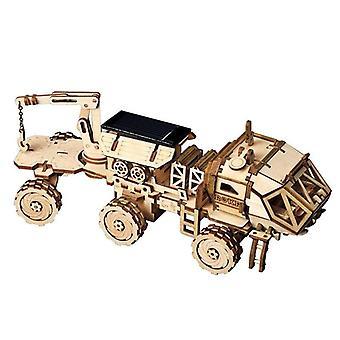 3d Diy Discovery Rover, Aurinko avaruus metsästää puinen malli - Rakennussarja