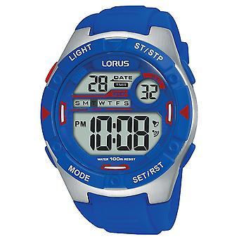 Zegarek cyfrowy Lorus Mens z elektrycznym miękkim paskiem silikonowym (R2301NX9)