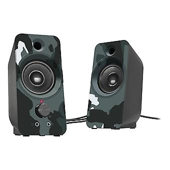 Speedlink Daroc USB-aangedreven stereoluidspreker en stereojack audioblauwe camouflage