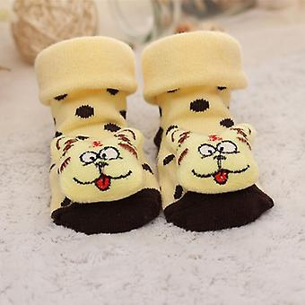 Calzini per bambini Piano Non-slip Cotton Cartoon Doll con Bells Girls Boys Soft Cute Boots