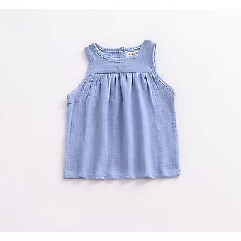 Summer Sleeveless Cotton T-shirts For Baby 0-24months - Kids Vest Tops Colorful