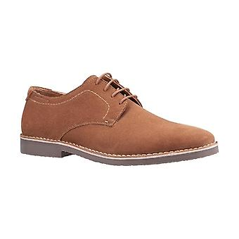 Hush Chiots Archie Mens Suede Derby Chaussures Tan