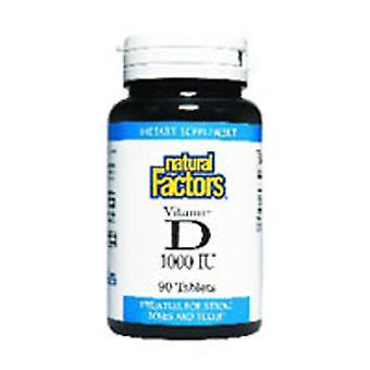 Luonnolliset tekijät Vitamiini D3, 1000 IU, 90 Tabs