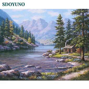 60x75cm Frameless Painting By Numbers - Nature, Landscape Pictures