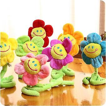 gardin hjem dekorasjon, søt smil tegneserie solsikke, plysj kreative leker