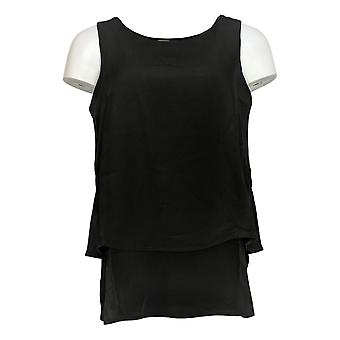 DG2 por Diane Gilman Women's Top Mixed-Media Easy Tank Black 520-772