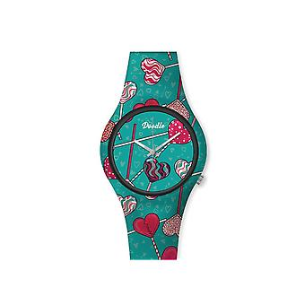Women's Watch Doodle Graphics Mood green dial - DO35009