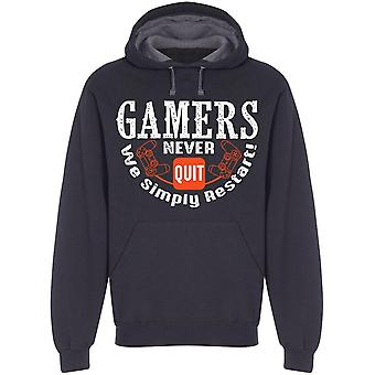 Gamers Never Quit Hoodie Men's -Image by Shutterstock