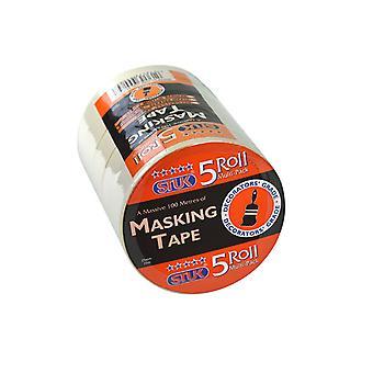 STUK Masking Tape 25mm White x 5 M2520T5