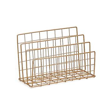 Nordic Magazine Rack, Vogue Modern Chic Gold Storage Basket