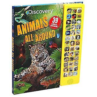 Discovery: Animals All Around (Libros de sonido de 39 botones) [Libro de la junta]