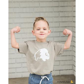 Buffalo Print T-shirt For Toddlers